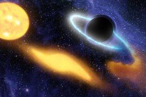 Black hole (artist's rendition)