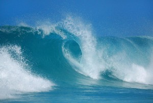 Blue wave cresting