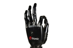 Closeup of BeBionic3 robot prosthetic hand