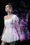 Dress with light trails