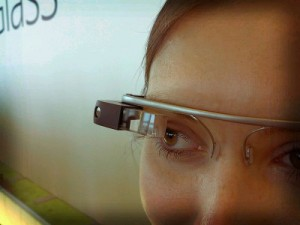 close up of woman wearing google glasses