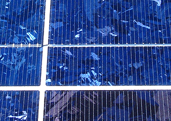 closeup of solar panel